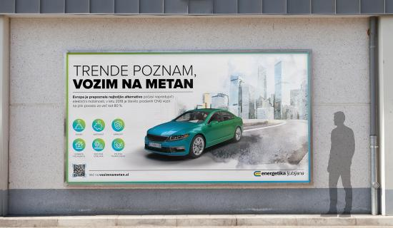 Billboard CNG - Vozim na metan